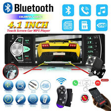 4.1'' Car Stereo Radio Single 1DIN  FM Radio  Bluetooth USB AUX MP3 MP5 + Camera