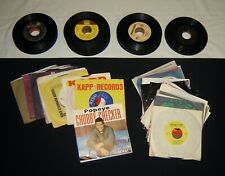 Vintage 45s Lot 100+ Records Rock Doo-Wop R&B Pop Country Motown Free Shipping