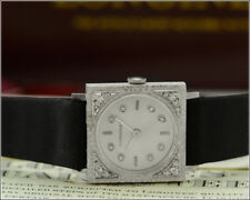 Vintage New Old Stock LONGINES 14k White Gold Diamond Dial Watch w/ Box & Papers