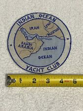 New listing Vintage Us Navy Indian Ocean Yacht Club Patch Used Original Patch! Nice