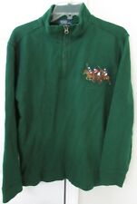Polo Ralph Lauren Green 1/2 Zip Pullover Sweater Youth XL (20) 3 Horse Logo