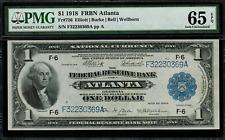 1918 $1 Federal Reserve Bank Note Atlanta FR-726 - PMG 65 EPQ - Gem Uncirculated
