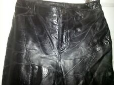 Newport News Easy Style size 8 Black Textured Leather Pants Ladies Motorcycle
