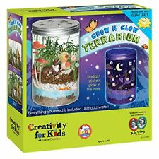 Kids Grow N Glow Terrarium Creativity Kit Science Craft Plant Educational Botany