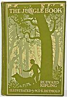 1913 THE JUNGLE BOOK Antique FIRST COLOR EDITION Rudyard KIPLING Disney DETMOLD