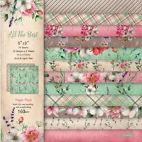 12Pcs Paper Pad Floral Single-sided DIY Scrapbooking Photo Album Card Making Acc