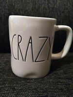 Rae Dunn By Magenta CRAZY Mug  NEW beige & black artisan farmhouse large letters