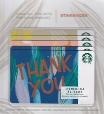 2018 ORIGINAL STARBUCKS GIFT CARD ~THANK YOU~ SET of 5 CARDS NO VALUE PIN# COVER