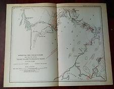 1898 USGS Survey Map Alaska Kanektok and Togiak Rivers