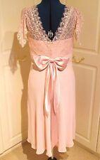 Belle Nicholas Millington Shell Rose Demoiselle D'Honneur/Bal/Occasion Robe Taille 14