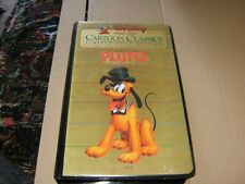 Walt Disney Cartoon Classics Limited Gold Edition Pluto VHS Video Used.