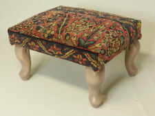 Hand-Made Kerman Rug Footstool