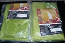 Pair of Mid Century Insulated Drapes Curtain Panels Pinch Pleat Green 47x84 NEW