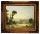 Durand Pastoral Landscape 1861 Wood Framed Canvas Print Repro 11x14