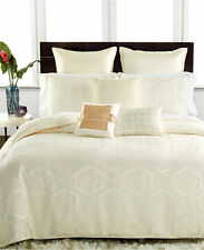 Hotel Collection Bedding Verve FULL/QUEEN Duvet Cover IVORY MSRP $310 C046