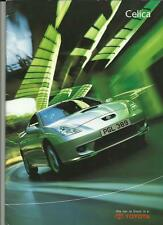 TOYOTA CELICA, CELICA 190 AND CELICA T SPORT SALES BROCHURE AUG. 2001 FOR 2002