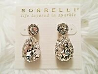 "*NEW*  &  *RETIRED*  ~ Sorrelli ~ "" CLEAR CRYSTAL "" ~ Tear Drop ~ earrings ~"