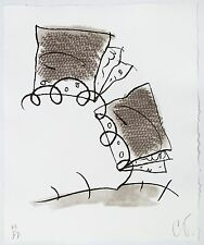 Claes Oldenburg: Notebook Torn in Half, 1997. Signed, Numbered, Fine Art Print.