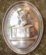 Plaque de Métier 1900's Argent Medaille de Fonction Banquier Banque de France
