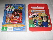 DVD 1 Disks Fireman Sam  & The Wubbulous  Kids Movies selling 2 disk together