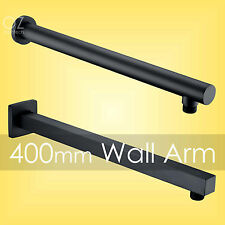 Bathroom Brass Black Square/Round 400mm Straight Wall Shower Arm Spout for Head