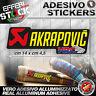 Adesivo / Sticker AKRAPOVIC HRC HONDA CBR 600 1000 HORNET VTR 200°gradi EXAUS