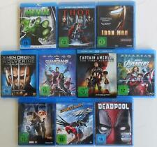 10x Marvel Superhelden Blu Ray Sammlung (Avengers, Guardians.., Hulk, ...) .