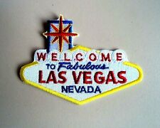 1x Welcome Las Vegas Patches Embroidered Cloth Biker Applique Badge Iron Sew On