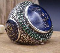 Turkish Handmade Jewelry Silver İslamic Men's Ring Size 5-11