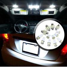13Pcs Car White LED Lights Kit for Stock Interior & Dome & License Plate Lamps K