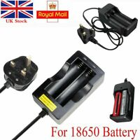 New 2 Slots 18650 Protected Rechargeable 3.7V Li-ion Battery Charger- UK Plug