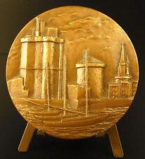 Médaille Vue des Tours du Vieux port de La Rochelle s Foublanc Galion ship medal