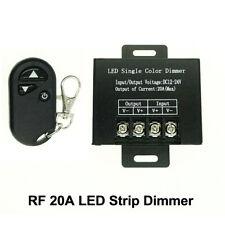 LED Single Color Dimmer controller DC12V-24V 20A 3 Key RF for 5050 LED Strip