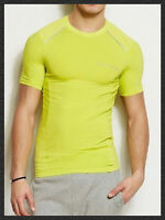 Armani Exchange Tee Shirt Short Sleeves Active Muscle Sports T Shirt Neon Green