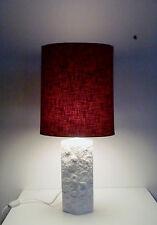 70s Alboth & Kaiser Porzellan Lampe relief porcelain matte lamp base annees 70
