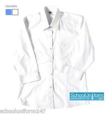 Girls Ladies 3/4 Sleeve School Uniform Office Blouse Shirt 15 16 17 18 + years
