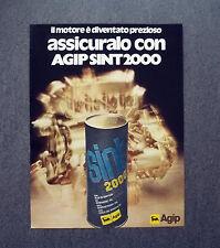 K420- Advertising Pubblicità -1975- AGIP SINT 2000