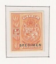 Tonga: Scott N° 38, Specimen in orange on thick woven, fine, imperforate. TG052