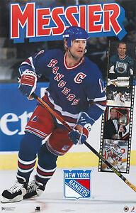 1995 Mark Messier Filmstrip New York Rangers Original Norman James Poster OOP