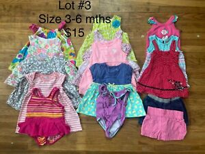 Baby Girl Summer Clothing Lot Size 3-6 mths
