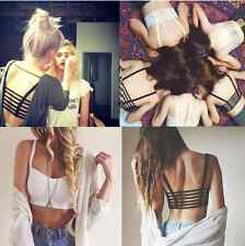 Celebrity Sexy Girl Bralette Cage Caged Back Cut Out Padded Bra Bralet Crop Top