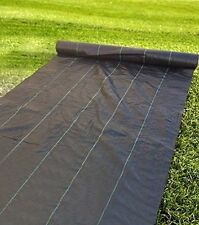 20 YEAR WEED BARRIER LANDSCAPE FABRIC 2.9oz 6x12ft Soil Erosion PP Woven