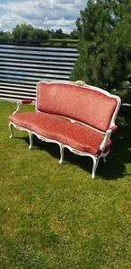 French Style 3 Seater Settee wooden