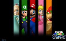 "Super Mario - Bros Game Baby Cute  Fabric poster 21"" x13"" Decor 80"