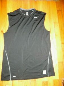 Mens NIKE Pro black fitted top size Large