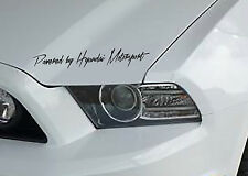 Powered by Hyundai Motorsport Aufkleber Sticker Folie Limited Edition JMD Decal