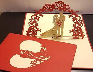 3D Pop Up Card.(VALENTINE,   Wedding, Engagement, Anniversary....