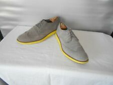 Men's Mark Mason Skechers Gray Leather Casual Wing Tip Fashion Oxfords Size 11 D