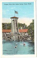 1920's The Toboggan Water Slide, Sulphur Springs in Tampa, FL Florida PC