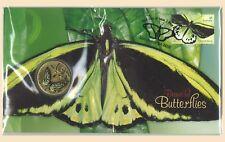 Australia 2016 Beautiful Butterflies PNC Stamp & $1 UNC Coin Cover